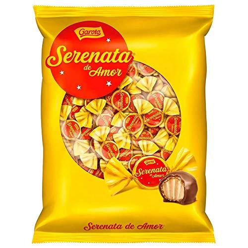 Bombones de chocolate con gofres crujientes, relleno de crema de anacardos, 825g - Serenata de Amor GAROTO 825g