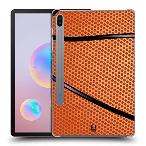 Head Case Designs Baloncesto Colección de Bolas Carcasa rígida Compatible con Samsung Galaxy Tab S6 (2019)