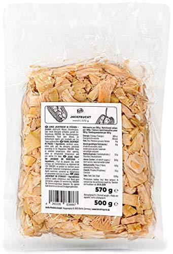 KoRo - Jackfrucht weich 570 g - Tropischer fettarmer Fleischersatz frei von Gluten und Soja