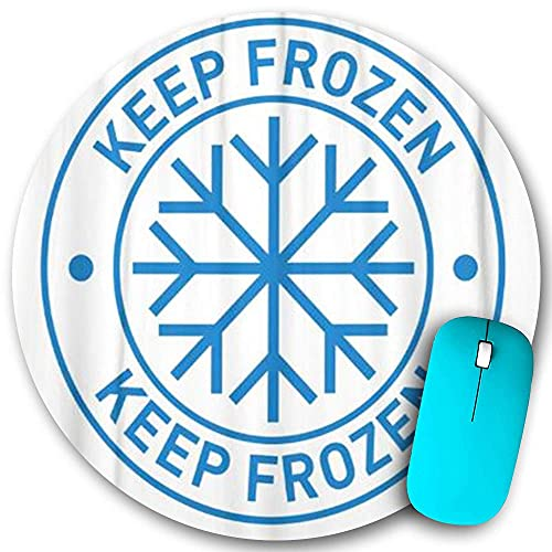 Rundes Mauspad Rutschfester Gummi, Lebensmittel in gefrorenem Kühlschrank und Gefrierschrank aufbewahren, wasserdichte, haltbare Mausmatte Büro-Desktops Persönlichkeit 7,9 'x 7,9'