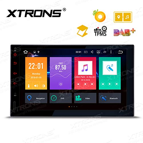 XTRONS 7 Inch Android Auto Car Stereo Radio Player Octa Core 4G RAM 32G ROM HD Digital Multi-Touch Screen Car Stereo GPS Radio OBD2 TPMS Double 2 Din
