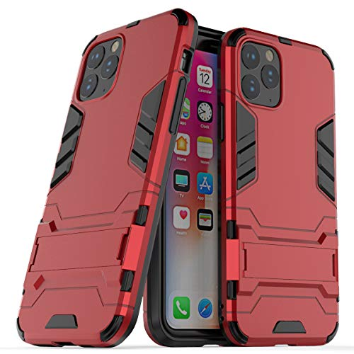 Cocomii Iron Man Armor iPhone 11 PRO Custodia, Sottile Magro Opaco Kickstand Verticale & Orizzontale Protezione Rinforzata Case Bumper Cover Paraurti Compatible with Apple iPhone 11 PRO 5.8' (Red)