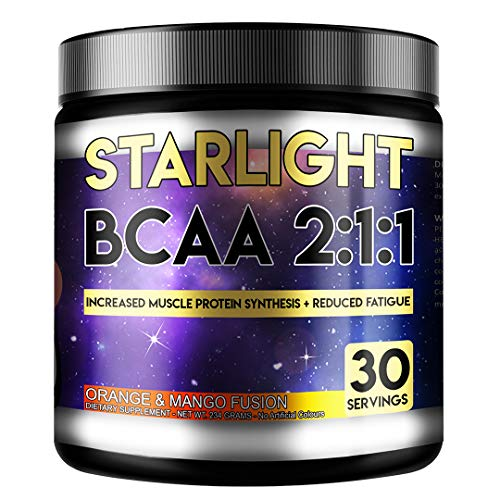 Perihelion Nutrition Starlight BCAA 2:1:1 Amino Acids Supplement Vegan 30 Servings L-LEUCINE, L-ISOLEUCINE, L-VALINE (Orange & Mango)