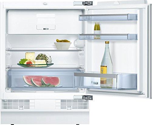 Bosch KUL15A60 Serie 6 Unterbau-Kühlschrank mit Gefrierfach / A++ / 82 cm Nischenhöhe / 140 kWh/Jahr / 123 L / MultiBox / SafetyGlass