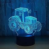 Luz nocturna 3D ilusión LED Luces nocturnas Procrastination De Habitación De Niños Lámpara De Mesa Los Mejores Regalos De Vacaciones De Cumpleaños Para Niños Con interfaz USB, cambio de color colorido