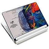 Vinilo adhesivo para portátil de 15,6 pulgadas para portátil de 13,3 pulgadas, 14, 15,4 y 15,6 pulgadas, HP Dell, Lenovo, Apple Mac Asus Acer (2 muñequeras incluidas) (cerebro)