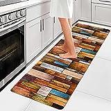 Küchenläufer Waschbar Rutschfest (108 Größen und 5 Farben) Läufer Teppiche Flur Rutschfest Rutschfest Weiche Oberfläche Einfach zu Säubern, Teppich Küche für Küche Schlafzimmer Wohnzimmer 40x100cm