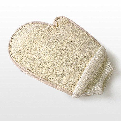Luffa Handschuh Peeling Handschuh Badeschwamm Dusche Loofah Körper Massage Scrubber Handschuh (Luffa-Handschuh)