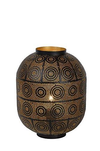 Lucide TAHAR - Lampe De Table - Ø 25 cm - Noir