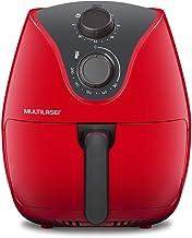 Fritadeira Elétrica Air Fryer 4L 127V 1500W com Grade Multilaser Vermelha - CE083