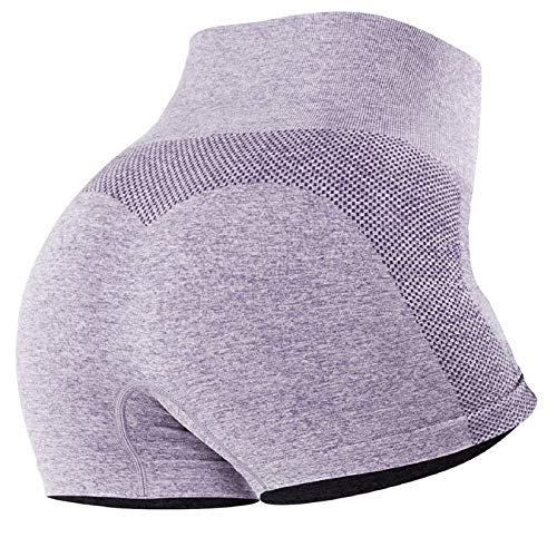 Voqeen Pantalones de Adelgazantes Push Up Mujer Leggins Reductores Adelgazantes Leggings Pantalones de Yoga Anticeluliticos Cintura Alta Mallas Fitness (Z - Morado, M)