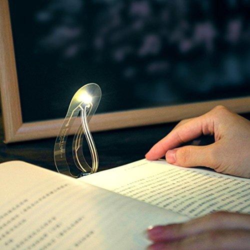 TAOtTAO - Mini segnalibro portatile portatile a LED, luce di lettura