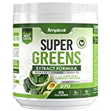 Super Greens Superfood Powder for Whole Food Nutrition: Moms know best. And moms have always been telling us to eat our vegetables. But the truth is, eating green food is not something that everyone enjoys. The Amplicell Super Greens organic drink mi...