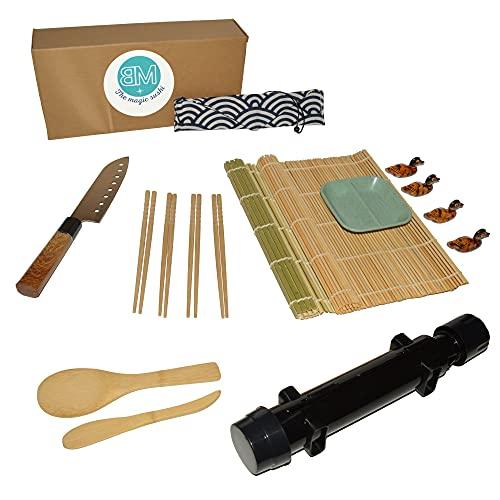 BEYMARA Kit Sushi, Ideal para Principiantes en Hacer Sushi en casa, Incluye 16 Accesorios Libres de BPA.
