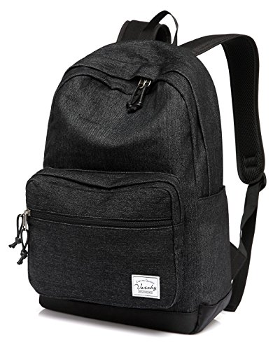 Denim Backpack for Man and Women,Vaschy School Backpack Casual Rucksack for 15 inch Laptop Travel Backpack with Water Resistant Cover