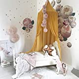 K9CK Betthimmel, Baby Baldachin Betthimmel Kinder Babys Bett aus Chiffon Insektennetz Deko Moskitonetz für Kinderbett - Gelb