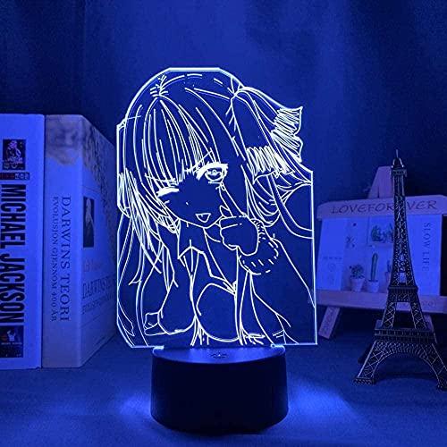 Lámpara de ilusión 3D LED nocturna Naruto 7 colores cambiadores lámpara USB dibujos animados Uzumaki Naruto Sasu Kekakash Anime creativo dormitorio decoración mesa de noche Festival Regalo