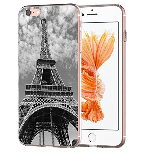 blitzversand Handyhülle Boutique Paris kompatibel für Samsung Galaxy J3 2017 Eifelturm Black Schutz Hülle Case Bumper transparent M5