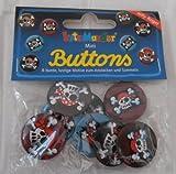 Mini-Buttons Jolly Roger Pirat von Lutz Mauder