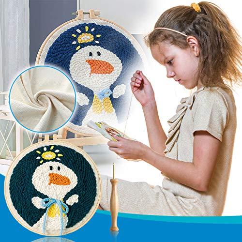 HWTOP Haushalt & Wohnen DIY Poke Stickerei Handgemachte Niedliche Gestickte Wollstickerei Selbststickerei Kit Set für Dekoration oder Geschenk