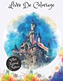 Livre de coloriage villes maisons Château: livre de coloriage adulte anti stress , +50 Pages Géantes à colorier, Ville Nature Château