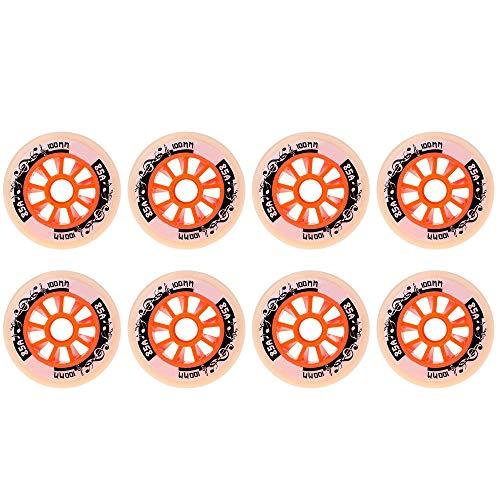 ETZBQ 8er Pack, Inline Skate Räder, 90Mm 100Mm 110Mm, Eisschnelllauf Roller Caster Board PU Räder Outdoor und Indoor Gummiräder(A110MM)