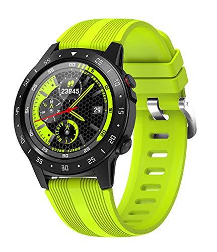 CRFYJ SmartWatch GPS Altímetro Brújula Llamada Bluetooth Impermeable Inteligente Aptitud del Reloj del perseguidor del Reloj Android iOS (Color : Green)
