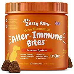 commercial Zesty Paws Dog Allergy Supplement Lamb – Wild Alaskan Salmon Omega-3 and… dog foods for allergies