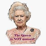 LAD Studio Queen Elizabeth is Not Amused Sticker Vinyl Bumper Sticker Decal Waterproof 5'