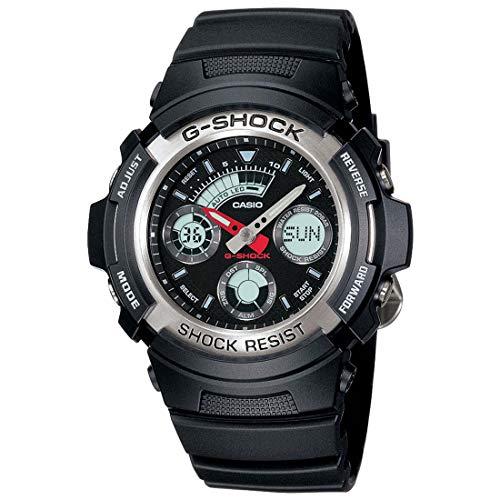 Casio G-Shock Analog-Digital Black Dial Men's Watch - AW-590-1ADR(G219)