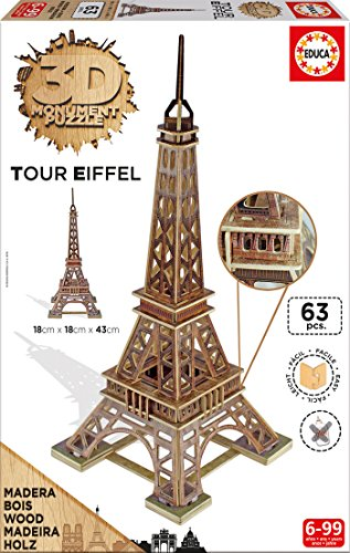 Educa Borrás - Torre Eiffel, Puzzle 3D (16998)