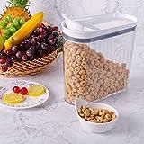 Elegear Alimentos Secos Cereal Caja de Almacenamiento BPA Free-3200ml La Cocina Dispensador de Contenedores con Tapa Hermética,Ideal para harina, Alimentos, Juego de 2