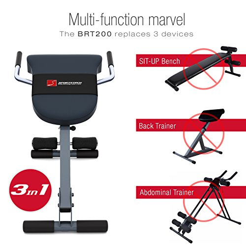 Sportstech-3in1-Back-Abdominal-Trainer-Hyperextension-Bench-With-Innovative-Anti-Slip-Design-BRT200-Foldable-Multifunctional-With-Ergonomic-Padding-Quick-Release-5-Difficulty-Levels