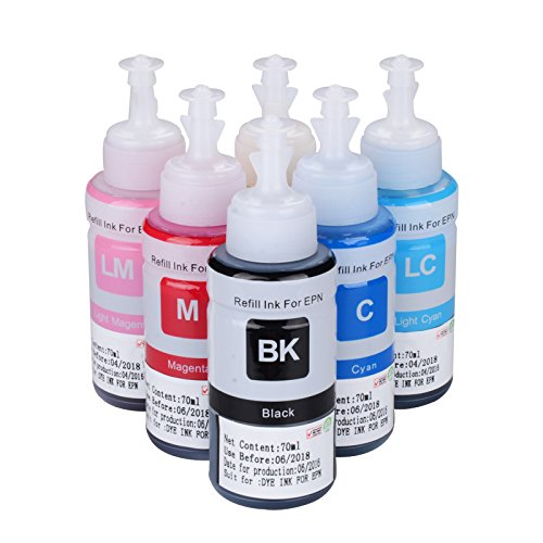 w-ink 600 ml 6 pack recambio ink100ml para Epson t6721/t6722/t6723 ...