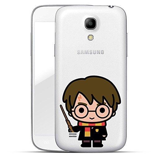 Harry Potter 'Chibi Serie' Custodia rigida Samsung Galaxy S4 / S4 Mini - Harry Potter Chibi Asta Trasparente, Samsung Galaxy S4 Mini