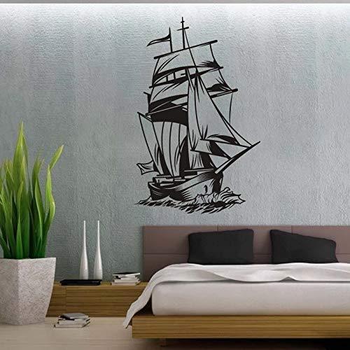HGFDHG Kreative Modekunst Seesegeln Piratenschiff Wandaufkleber Raumdekoration Vinyl Wandkunst