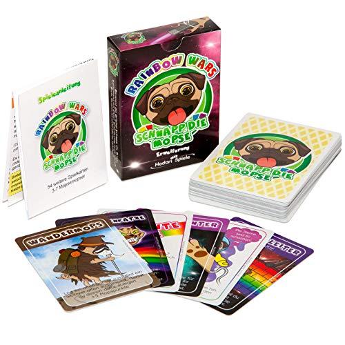 Hodari Spiele Rainbow Wars - Schnapp die Möpse Kartenspiel Erweiterung (54 Spielkarten)