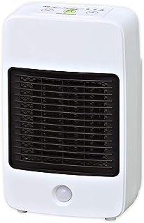 アイリスオーヤマ セラミックファンヒーター 人感センサー付き 800W ホワイト JCH-M082T