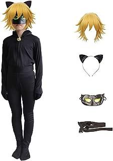 Black Cat Noir Cosplay Costume Ladybug Halloween Christmas Party Jumpsuit for Boys Marinette Superhero Cosplay Dress