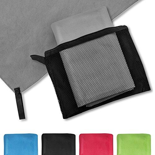 casa pura® Mikrofaser Handtuch Magic Dry | Grau | 80x180 | schnelltrocknend...