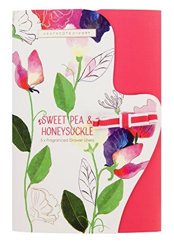 Heathcote - Forro para cajones perfumado, Guisante Dulce y madreselva, Multicolor, 33.5 x 50 cm, 1