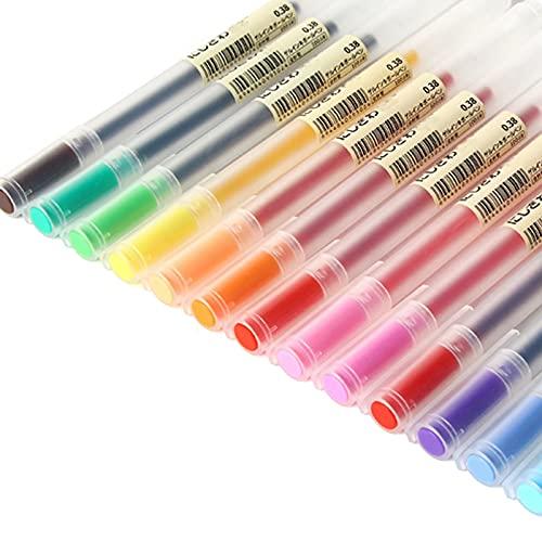 Bolígrafo de Gel de Color, bolígrafo de Gel antirreflujo de Color de Estilo Simple, Marca de Gel Intermitente con más del 30% de Tinta, Utilizado para Tarjetas en Libros ilustrados y Diarios