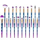 20 piezas Brochas de Maquillaje, para Pincel de Cejas Delineador de ojos Cepillo de Pestañas de Sombra de Ojos Cepillo de Maquillaje Cosmético