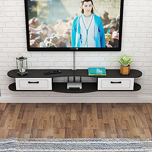 Consola Multimedia Montada,Decodificador Montado en la Pared, Estante para Sala de Estar, Soporte para TV Flotante, Gabinete, Dormitorio PequeñO/D/Los 140CM