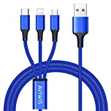 3 en 1 Multi Cable de Carga, AIVWIS 1.2M Cable Multiple Cargador Micro...