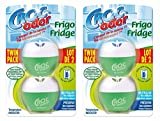 CROC'ODOR Coco Désodorisant pour Frigo - Paquet de 2 x 33g - Coloris aléatoire - Lot de 2