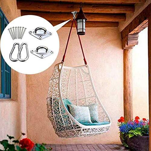 Haute Qualité Crochets For Chaises Swing Hamac Siège Accrochable En Acier Inoxydable Accessoires Kit For Plafond/Intérieur/Extérieur Confortable