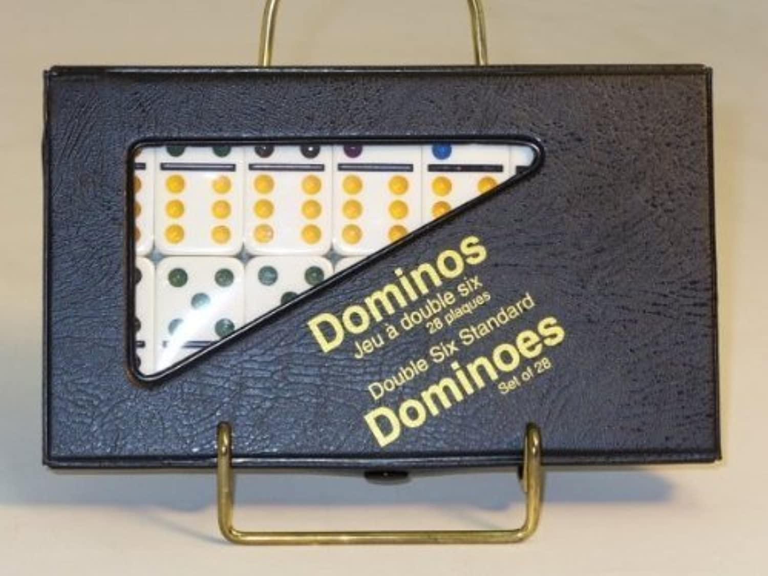 Double 6 Domino Action Game, White by Worldwise Imports