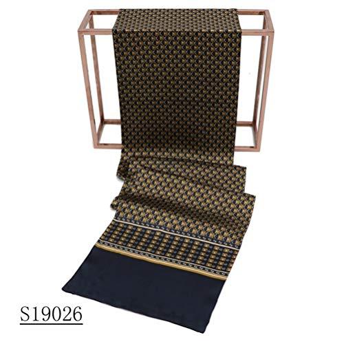 Seidenschal, Herrenschal Seidentuch Krawatte Schal zum Binden Herrentuch Paisley Muster 100% reine Seide Alternative zur Krawatte Geeignet Hochwertiger Attraktiver Modegeschmack