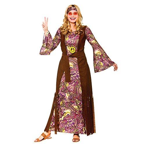 Ladies Summer of Love Purple Paisley Fancy Dress Costume